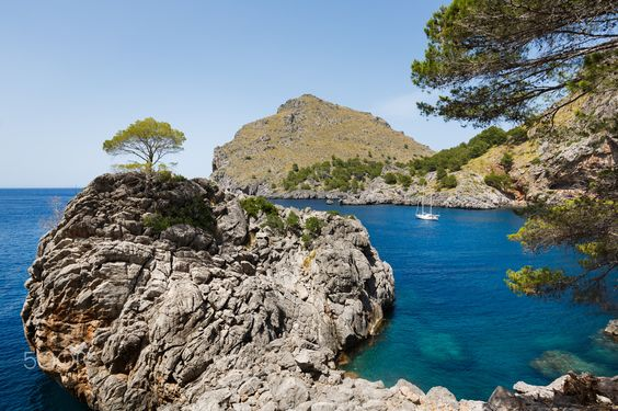 View of Sa Calobra bay in Mallorca, Spain